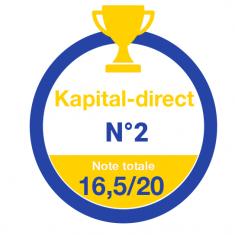 Kapital-direct classé N°2 par Investir