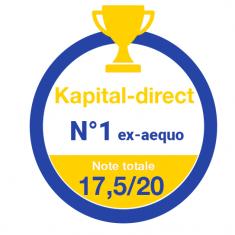 Kapital-direct classé N°1 ex-aequo par Investir